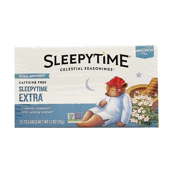 Caffeine Free Extra Sleepytime Herbal Supplement Tea, 1.2 oz 1