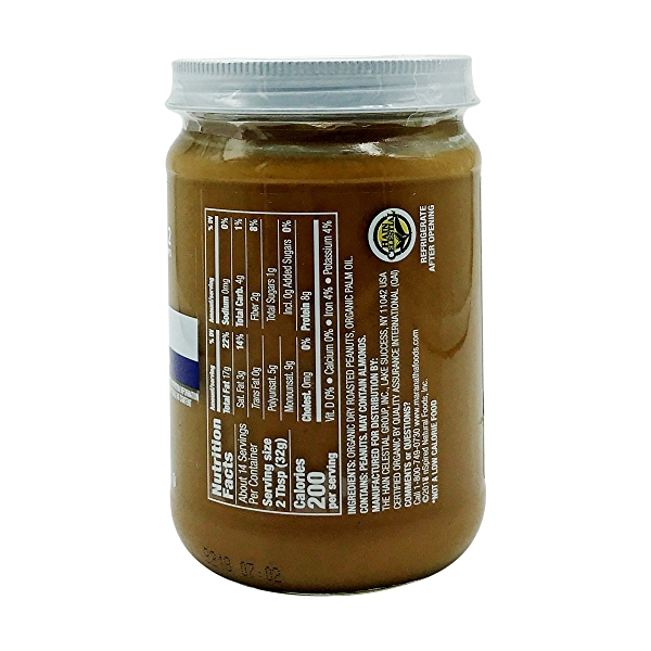 Organic Unsalted Unsweetened Peanut Butter, 16 oz 2
