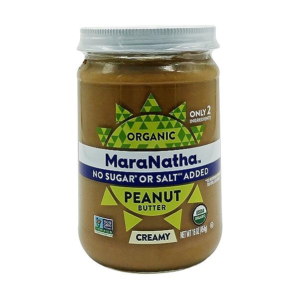 Organic Unsalted Unsweetened Peanut Butter, 16 oz 1