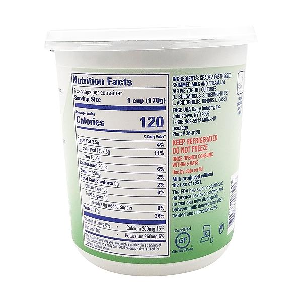 Total 2% Plain Greek Yogurt, 35.3 oz 3