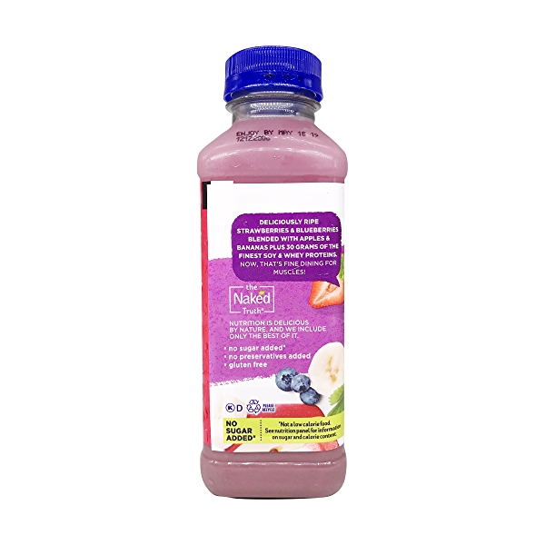 Naked Double Berry Protein Smoothie, 15.2 fl oz 4