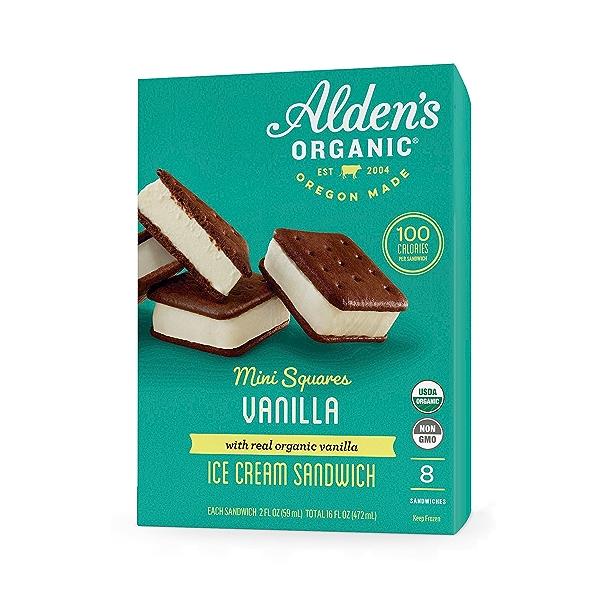 Organic Vanilla Ice Cream Mini Square Sandwich, 16 fl oz 1