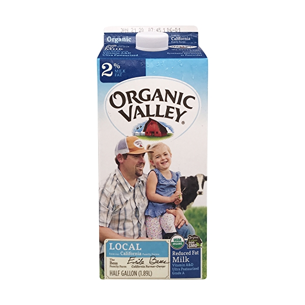Organic Reduced Fat Milk 1
