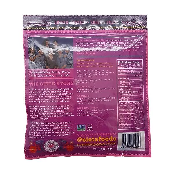 Almond Flour Amazing Grain Free Tortillas, 7 oz 2