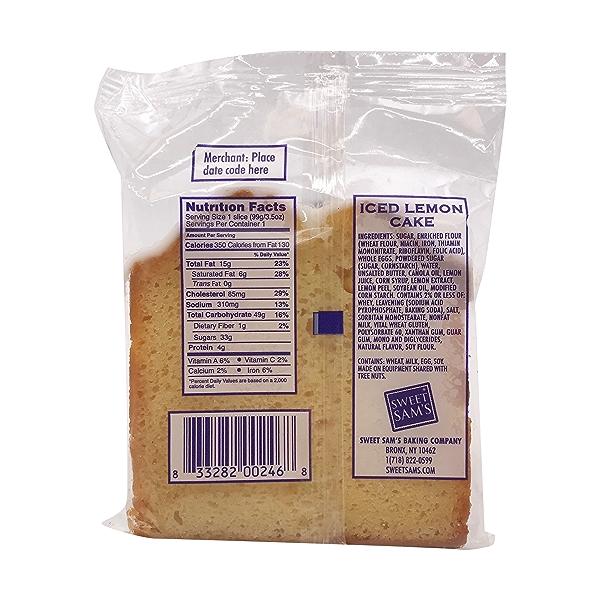Lemon Pound Cake Slice, 3.5 oz 2