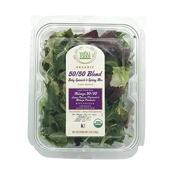 Organic Spring Spinach Mix Clm 5ozsld 1