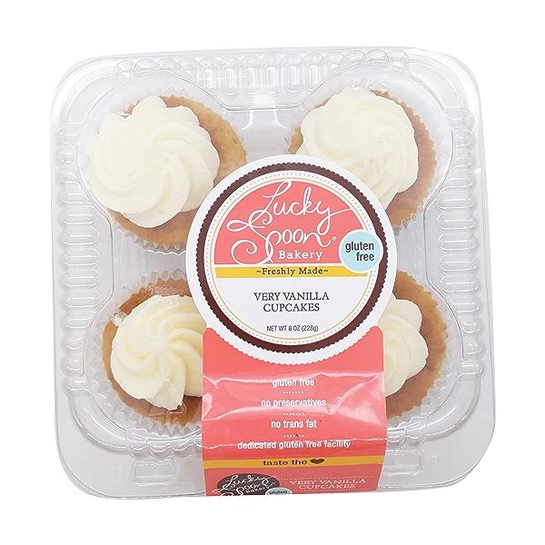 Cupcake, Gluten Free Very Vanilla 4 Ct Nat Cs, 8 oz 1
