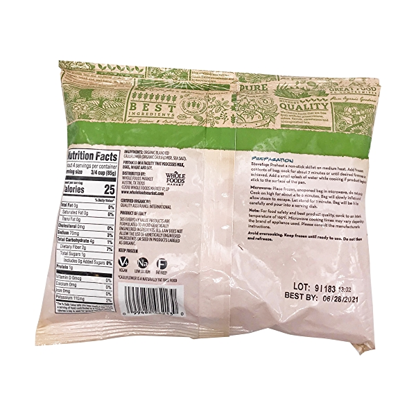 Organic Riced Cauliflower, 12 oz 2