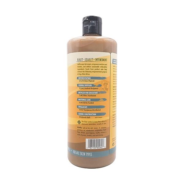 Unscented African Black Soap, 32 fl oz 2