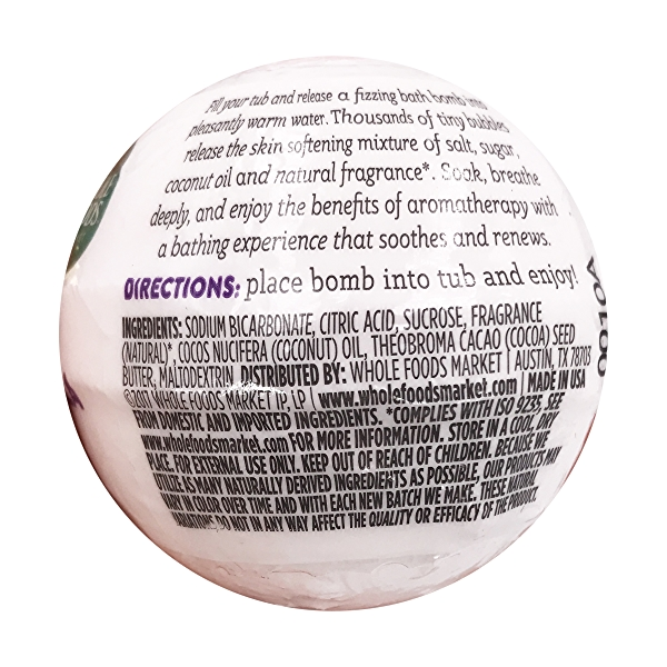 Lavender Vanilla Bath Bomb, 2.8 oz 3