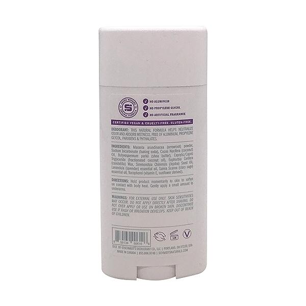 Lavender + Sage Natural Deodorant, 3.25 oz 2
