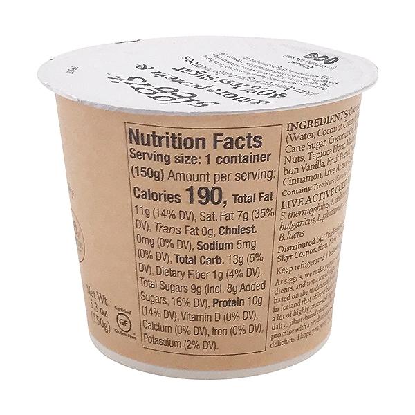 Plant Based Vanilla Cinnamon Yogurt, 5.3 oz 2