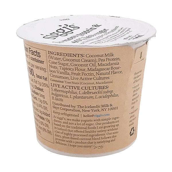 Plant Based Vanilla Cinnamon Yogurt, 5.3 oz 3