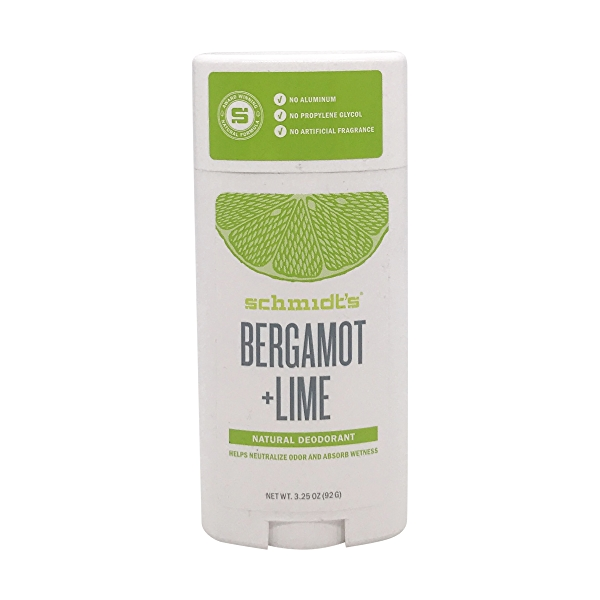 Bergamot + Lime Natural Deodorant, 3.25 oz 1