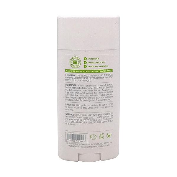 Bergamot + Lime Natural Deodorant, 3.25 oz 2