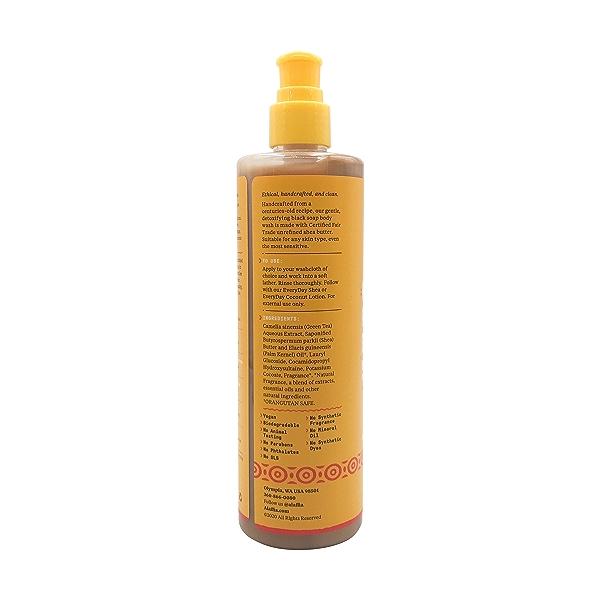 Authentic African Black Soap Body Wash Rose Matcha, 12 fl oz 3