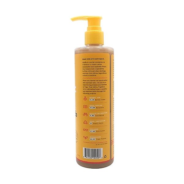 Authentic African Black Soap Body Wash Rose Matcha, 12 fl oz 2