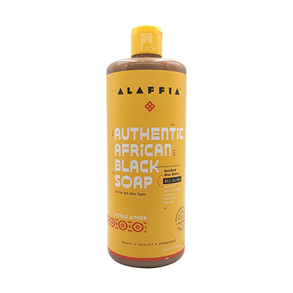 Authentic African Black Soap All-in-One Citrus Ginger, 32 fl oz 1