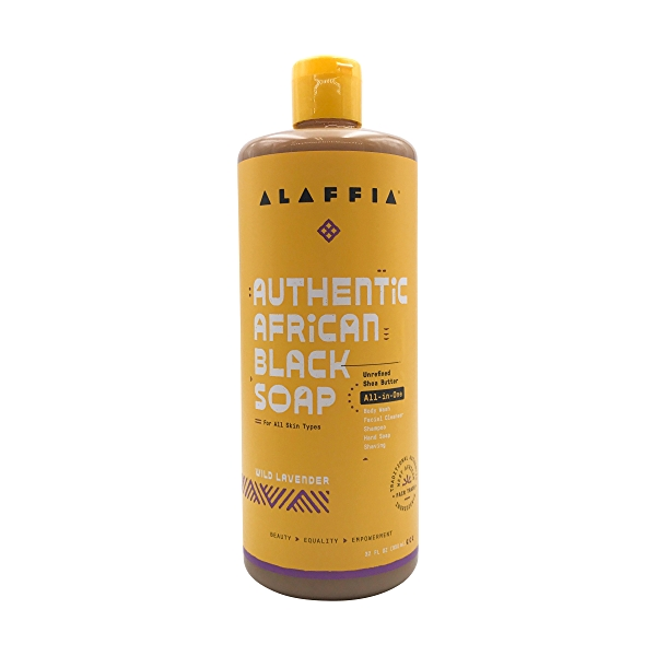 Authentic African Black Soap All-in-One Wild Lavender, 32 fl oz 1