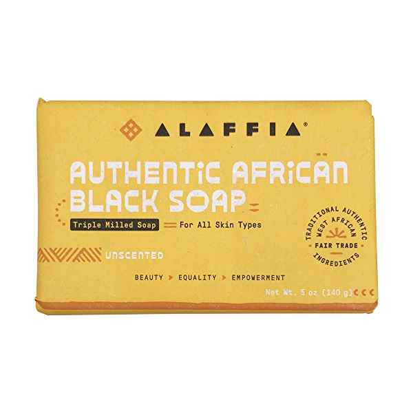 Authentic African Black Soap Unscented, 5 oz 1