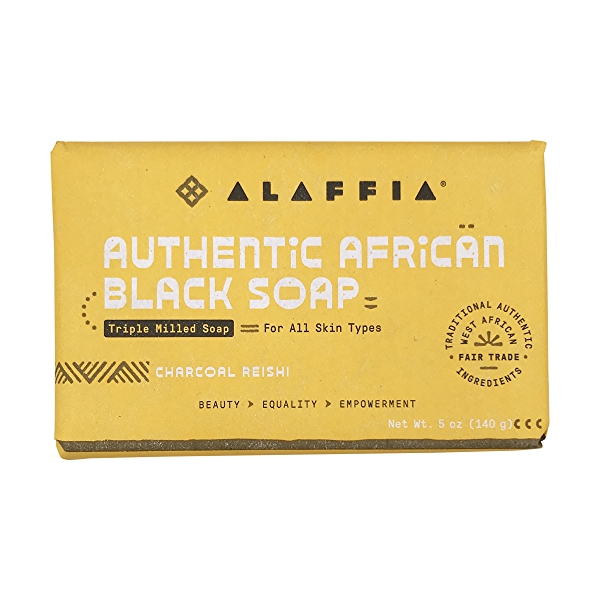 Authentic African Black Soap Charcoal Reishi, 5 oz 1