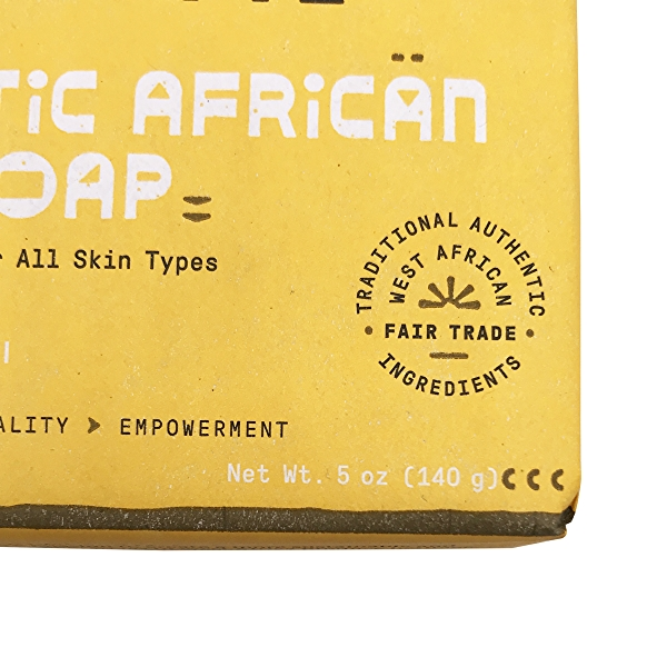 Authentic African Black Soap Charcoal Reishi, 5 oz 6