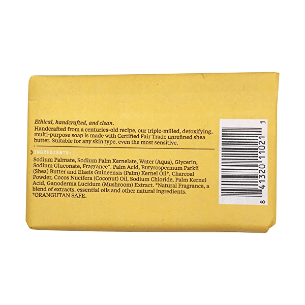 Authentic African Black Soap Charcoal Reishi, 5 oz 2