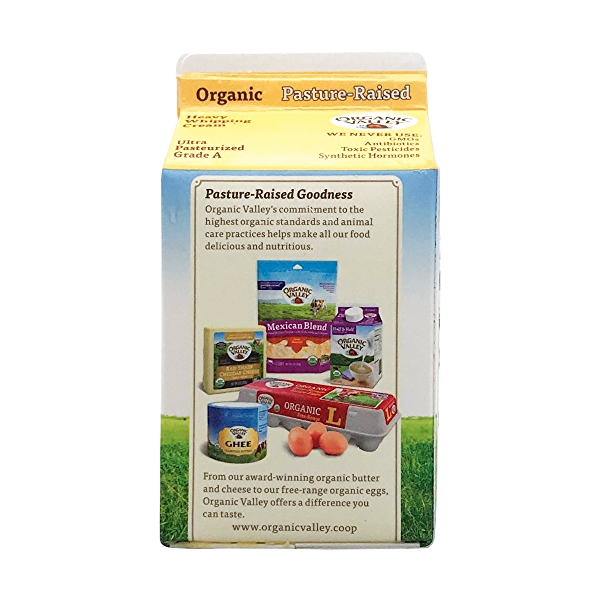 Organic Ultra Pasturize Heavy Whip Cream, 1 pint 3
