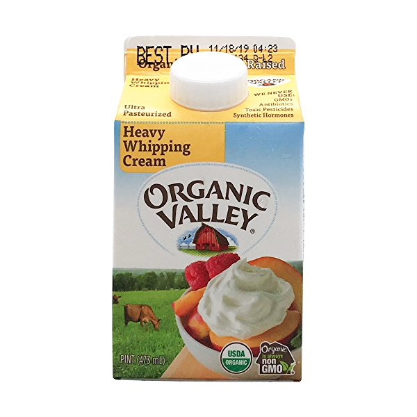 Organic Ultra Pasturize Heavy Whip Cream, 1 pint 1