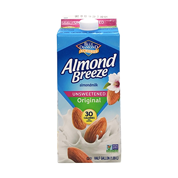 Unsweetened Original Almond Milk, 0.5 gallon 1