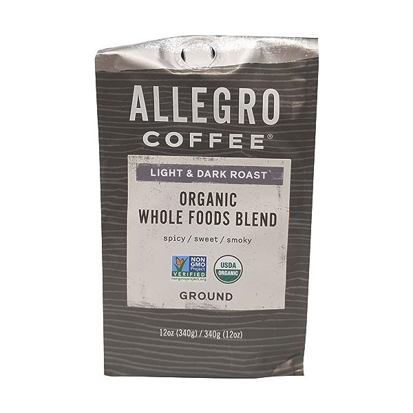 Organic Whole Foods Blend Ground Coffee, 12 oz 1