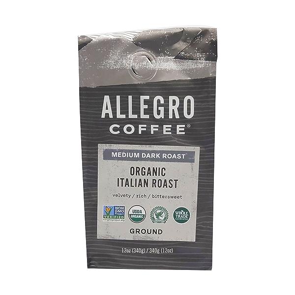 Organic Italian Roast Ground Coffee, 12 oz 1