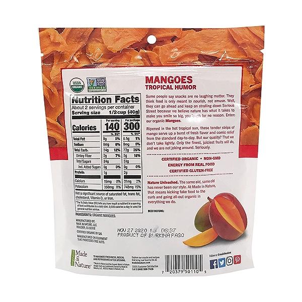 Organic Mangoes Dried Fruit, 3 oz 2