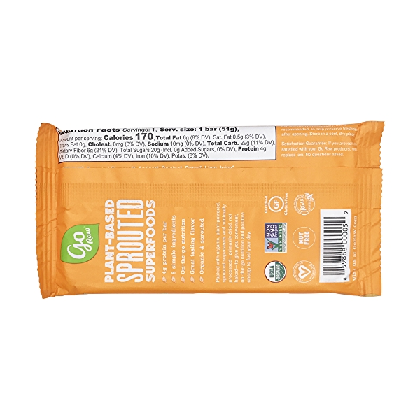 Sprouted Chewy Apricot Bar (Large), 1 each 2