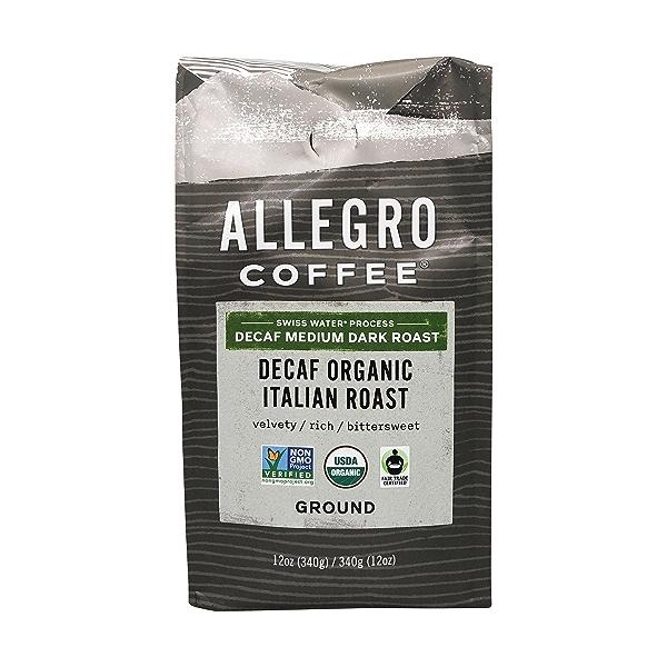 Organic Decaf Italian Roast Ground Coffee, 12 oz 1