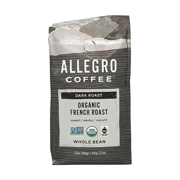 Organic Dark French Roast Whole Bean Coffee, 12 oz 1