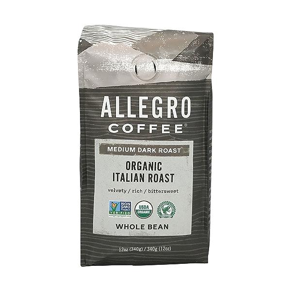 Organic Italian Roast Whole Bean Coffee, 12 oz 1
