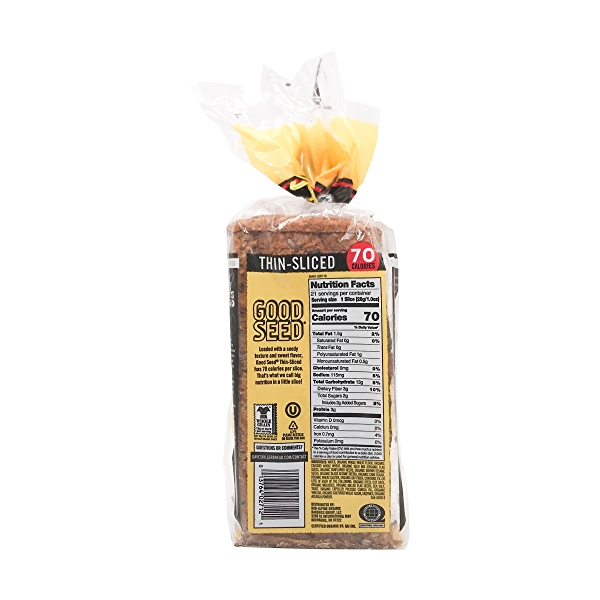 Organic Good Seed Thin-sliced Bread, 20.5 oz 3