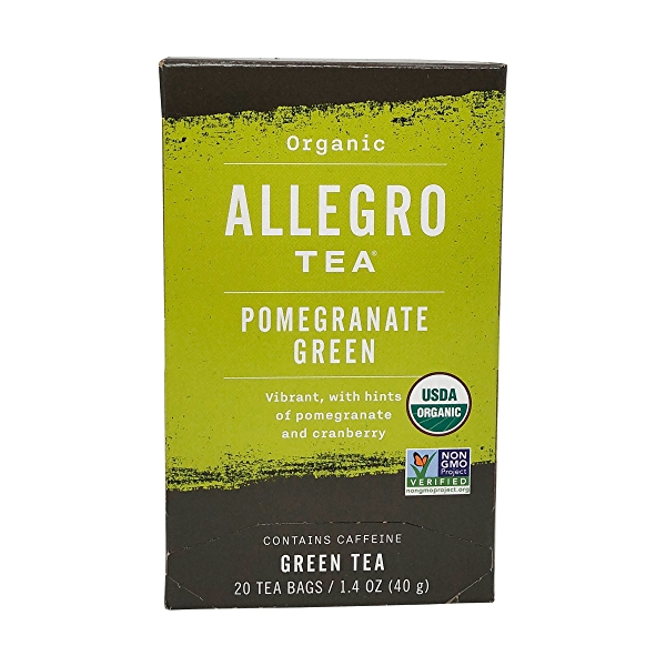 Organic Pomegranate Green Tea, 1.4 oz 3