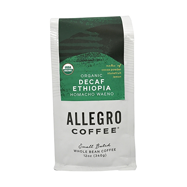 Organic Decaf Ethiopia Homacho Waeno Coffee, 12 oz 1