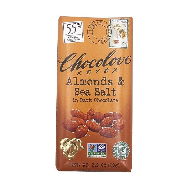 Almonds & Sea Salt In Dark Chocolate, 3.2 oz 1