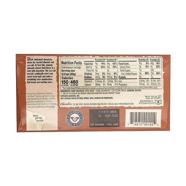Almonds & Sea Salt In Dark Chocolate, 3.2 oz 2