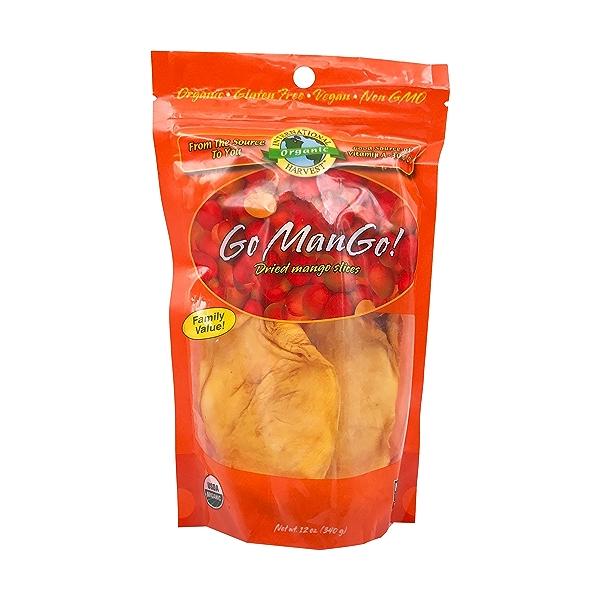 Organic Go Mango! Dried Mango Slices, 12 oz 1