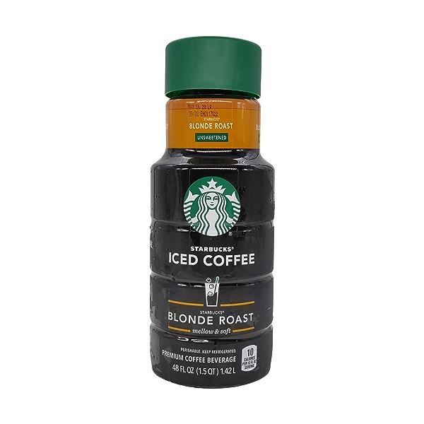 Unsweetened Blonde Roast Iced Coffee, 48 fl oz 1