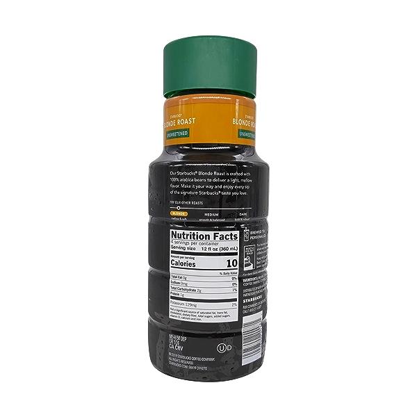 Unsweetened Blonde Roast Iced Coffee, 48 fl oz 2