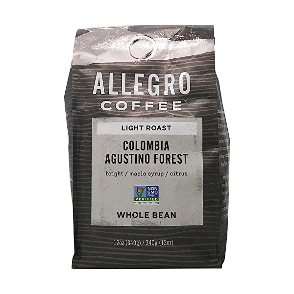 Light Roast Colombia Agustino Forest Whole Bean Coffee, 12 oz 1