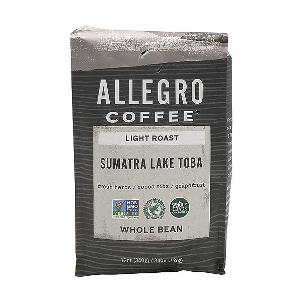 Sumatra Lintong Whole Bean Coffee, 12 oz 1