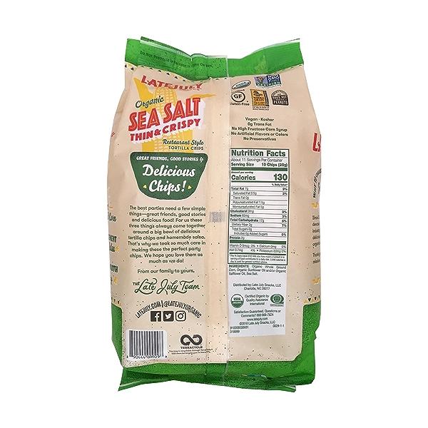 Organic Sea Salt Thin & Crispy Tortilla Chips, 11 oz 2