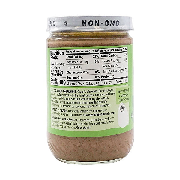Creamy Lightly Toasted Almond Butter, 16 oz 2
