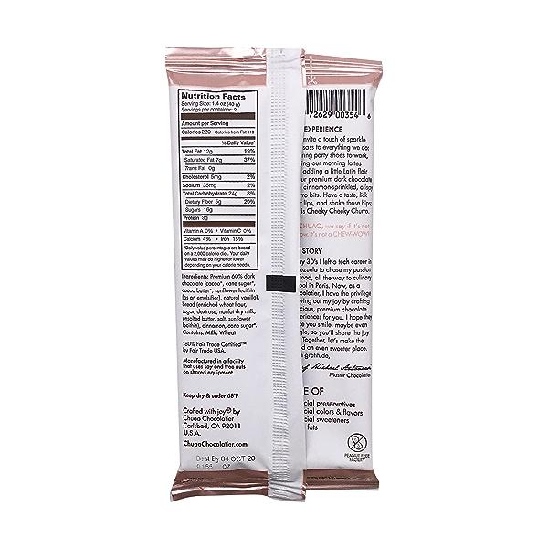 Cheeky Cheeky Churro Chocolate Bar, 2.8 oz 2